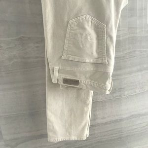 AG stilt cigarette corduroy jeans.
